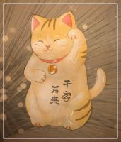 Lucky Happy Cat by carrie-warwick
