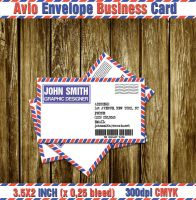 Avio Envelope Business Card by CaCaDoo