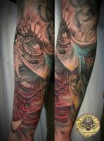 bloddy face crinkle eye by 2Face-Tattoo