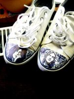 Led Zeppelin shoes by Jerzynka