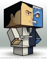 Two-face - Cubeecraft by Lucasmoredec