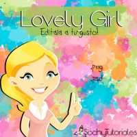Lovely Girl psd by Sochy by Tutoriales-Sochy