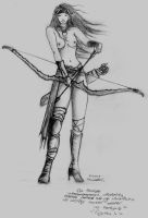 elf the archer by AveLaska