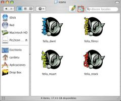 Fella 4Folder Icons for MacOSX by RoxStock