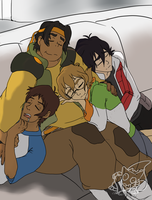 Voltron Legendary Defender: Sleepy Cubs by AmethystClaw