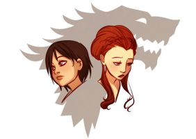 Stark girls by gabzillaz