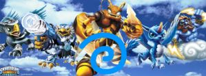 Air Skylanders Facebook Cover by txwhitewolf