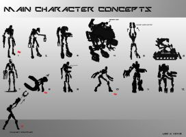 Game Character Concepts by LtLDigitalArt