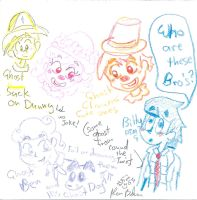 rount the twist ghosts with Billy by Kittychan2005