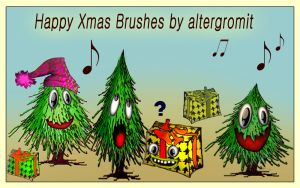 Funny Happy Xmas Brushes by altergromit