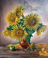 Sunflowers by adanethiel