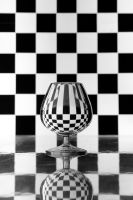 Glass + checkers background by ISOStock