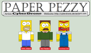 Paper Pezzy - The Simpsons by CyberDrone