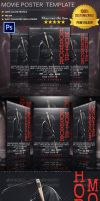 Horror Movie Poster Template by Ruthgschultz