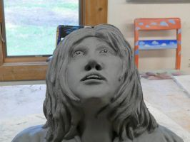 Self-Portait Bust-Frontal by CheddarPie