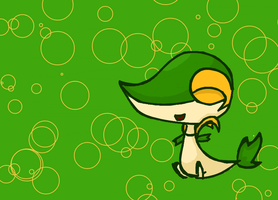 Snivy Chibi by Kat-The-Piplup