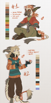 Anthro vernid adoptables by LiLaiRa