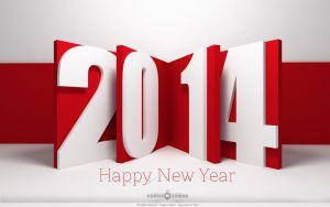 Happy New Year 2014 Wallpaper Red by KhaleeqXaman