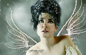 Frozen angel Close up by CindysArt