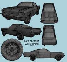 Mustang Wireframe by prox3h