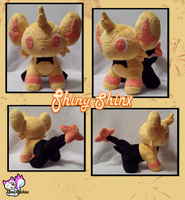 Minky Shiny Shinx Plushie :Sold: by Ami-Plushies