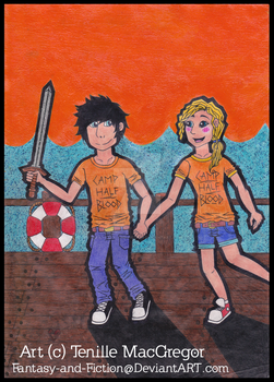 Percy and Annabeth request for Guchi-Girl1 by Fantasy-and-Fiction