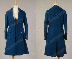 Amy Teal Wool Coat costume for Doctor Who by moviescostume