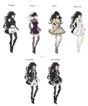 Mai ref outfits sheet by Bunbae
