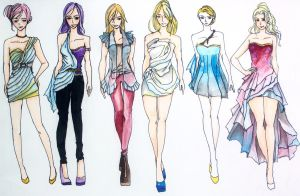 Final Fantasy Fashion I-VI by sypherianlp