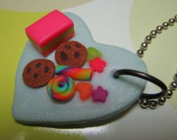 Heart plate with goodies II by skookyspry