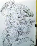 killer croc sketch 4 by TheWolfMaria