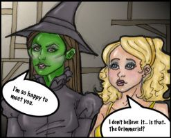 Elphaba and Glinda by cakesniffer2000
