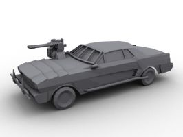 Low Poly Combat Car: View 1 by SniperWolf87