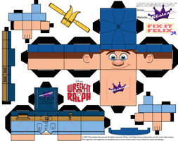 Disney Felix Jr Cubeecraft Wreck-it Ralph template by SKGaleana