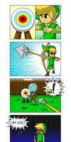 Link shoots the fish by faren916