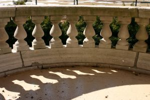 Railing and shadow by nwalter