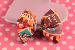 Chip 'n' Dale Puffy Hair Bow by PeppermintPuff