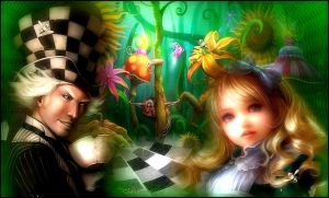 Alice and the Mad Hatter by Alimera