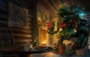 Festive Maokai Splash Art by Zirngibl