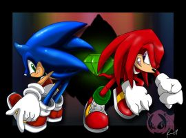 Sonic and Knuckles by Jesness