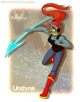 .: Undertale :. - Undyne by MoonyWings