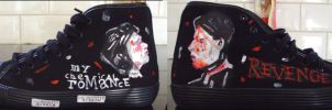 My Chemical Romance Shoes by Chemicalrainbows