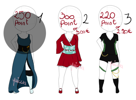 [Outfit] Adoptables #5 by Yuiccia