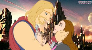 Thor and Jane- Disney Style by neniths
