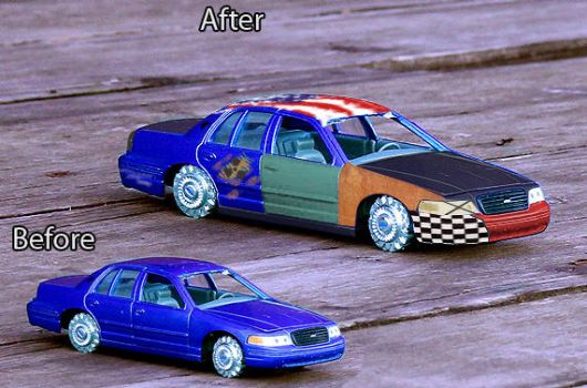 Ford Crown Victoria toy car by Pacee87