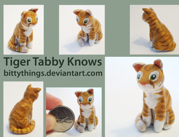 Tiger Tabby Knows - SOLD by Bittythings