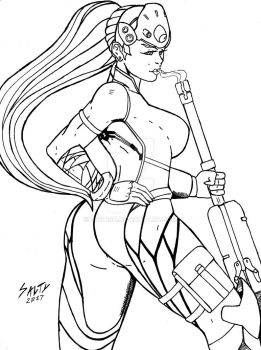 Widowmaker Inks Copy Clean by Bfetish