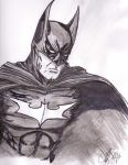 Batman B/W by CJRogue