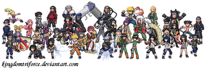 All Naruto Sprites by KingdomTriforce