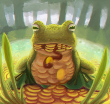 Greedy frog by A-wild-vic-appears